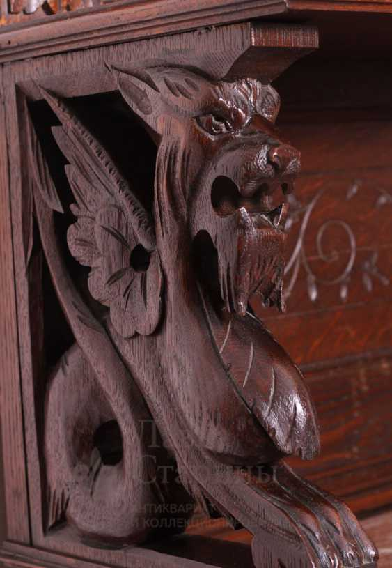 Antique cupboard with marble top - photo 9