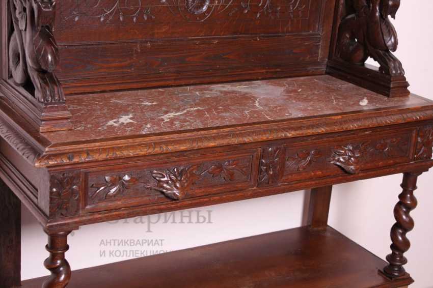 Antique cupboard with marble top - photo 11