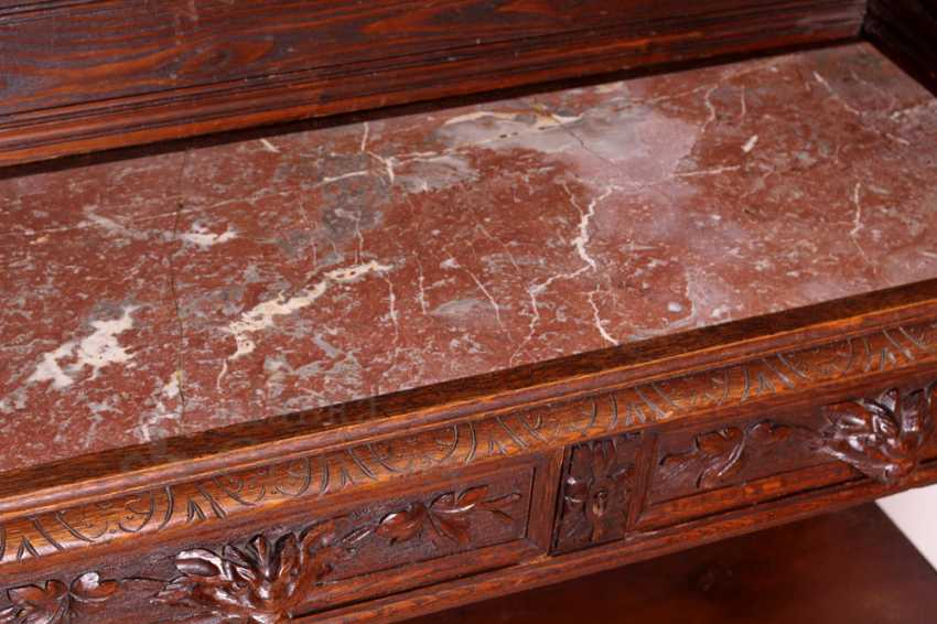Antique cupboard with marble top - photo 12