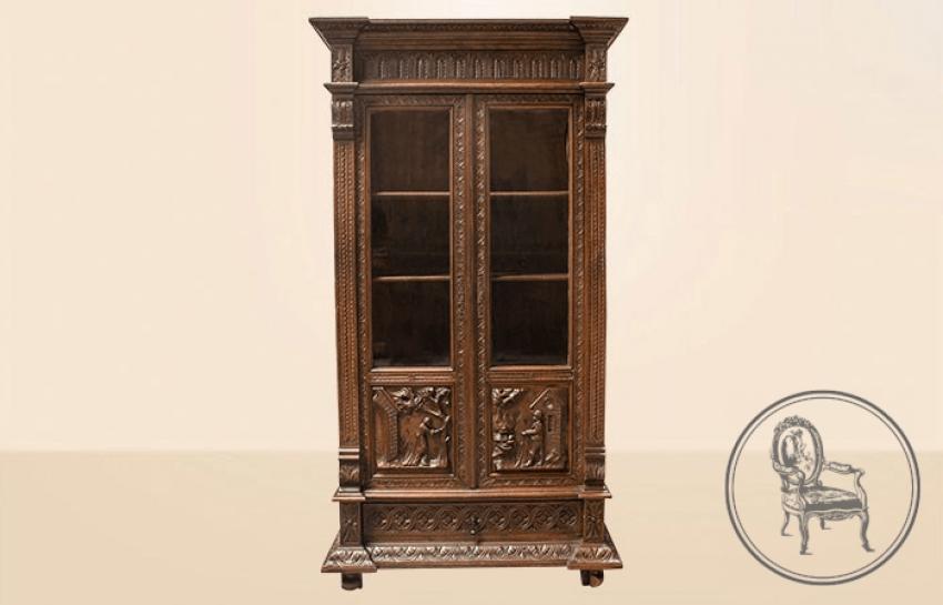 Antique bookcase - photo 1