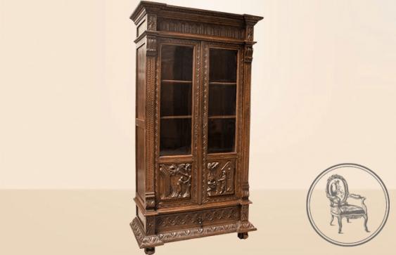 Antique bookcase - photo 2