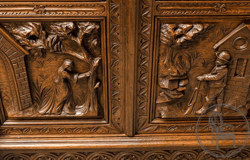 Antique bookcase - photo 5