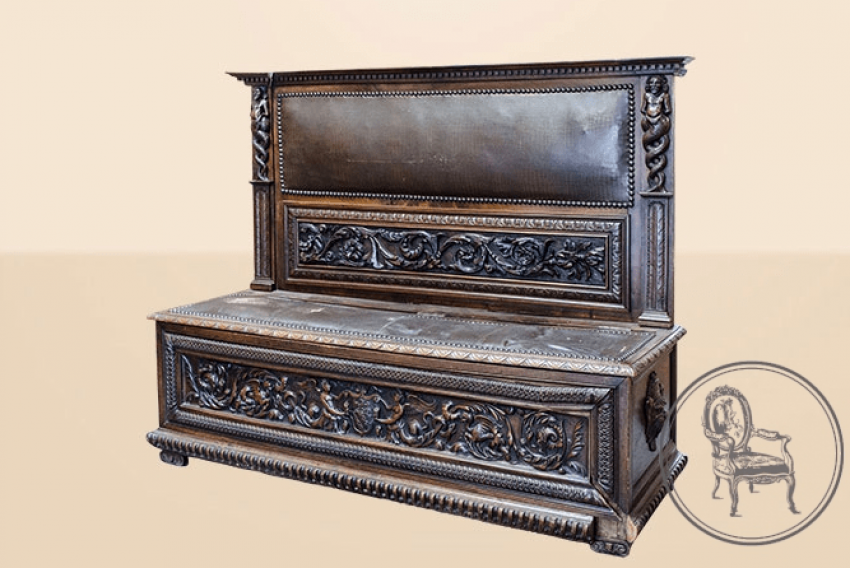 Antique bench of the XIX century - photo 2
