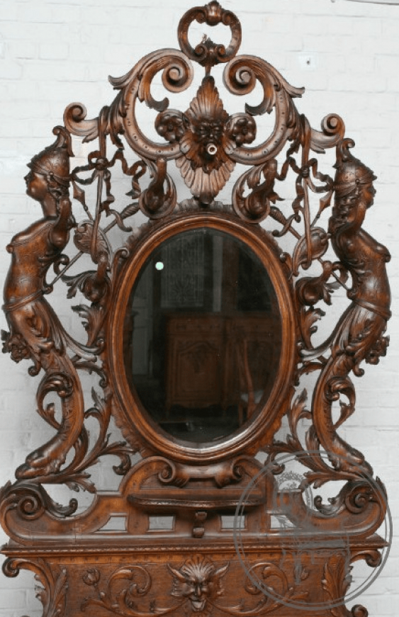 Antique console with mirror - photo 2