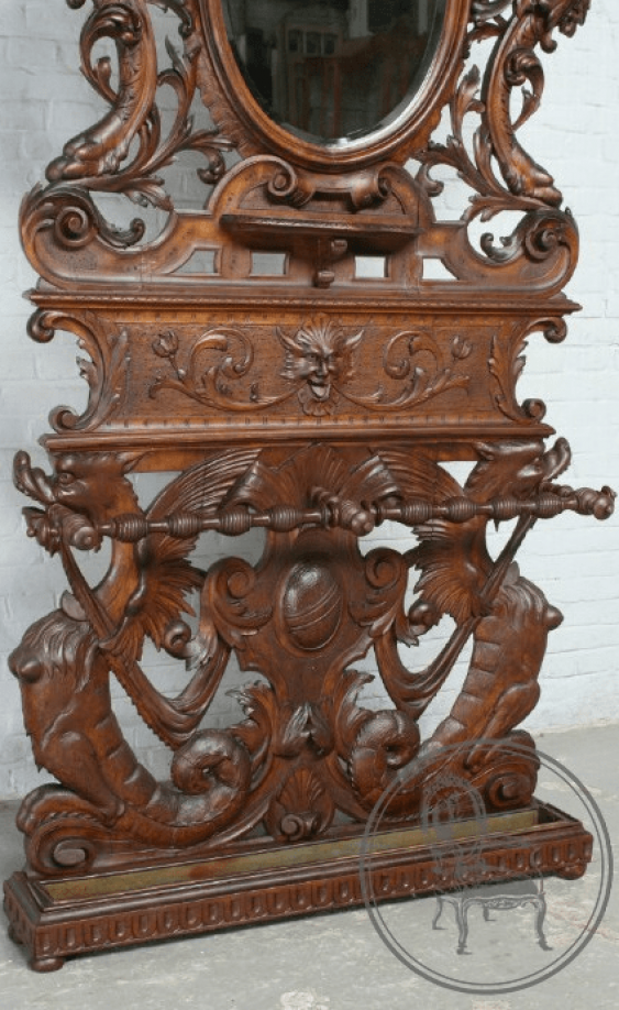 Antique console with mirror - photo 3