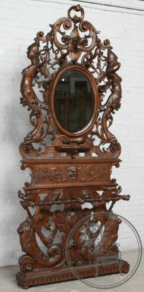 Antique console with mirror - photo 1