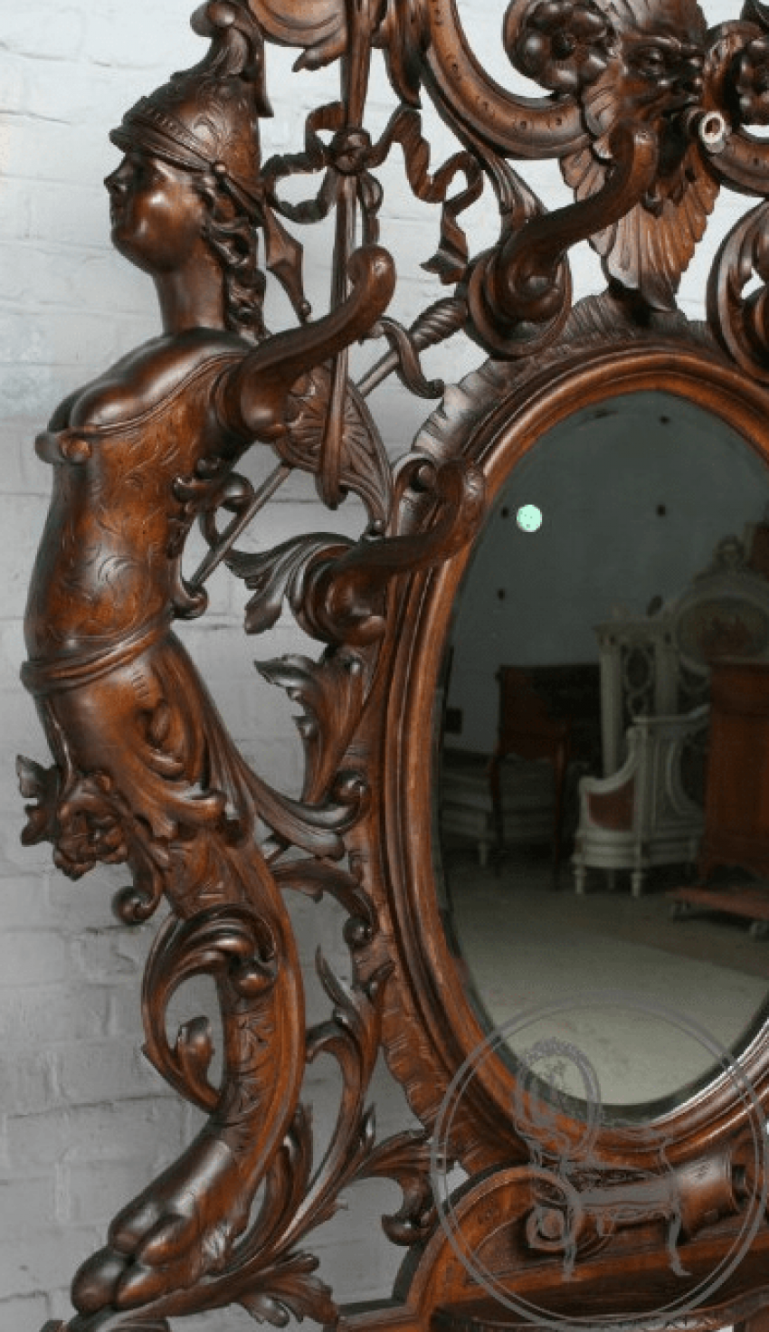Antique console with mirror - photo 4
