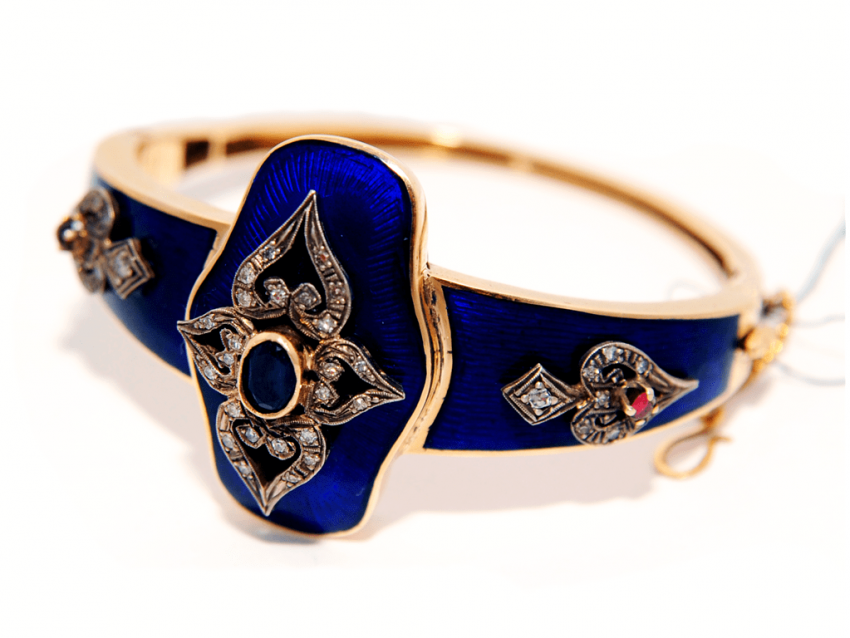 Bracelet with enamel and diamonds - photo 1