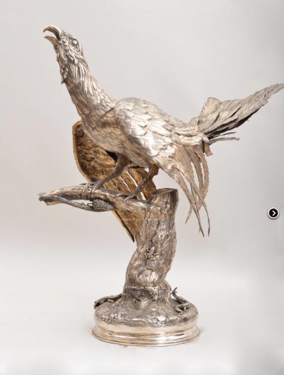 Pheasant silver сер19 century - photo 1