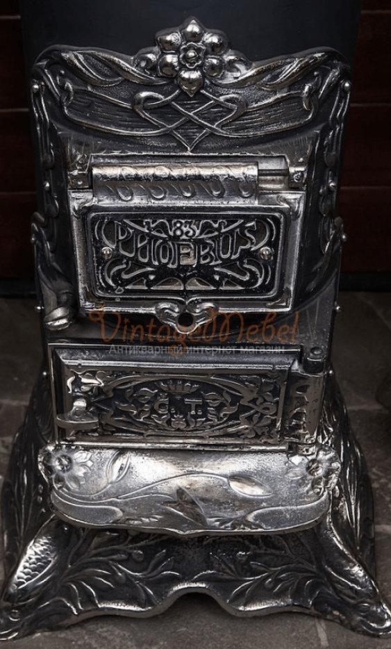 Antique cast iron stove - photo 2