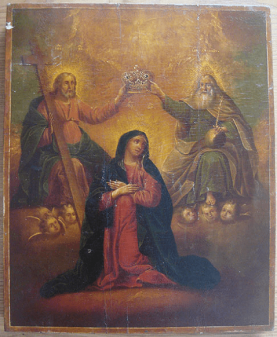 """Icon """"Coronation Of The Mother Of God"""" - photo 1"""