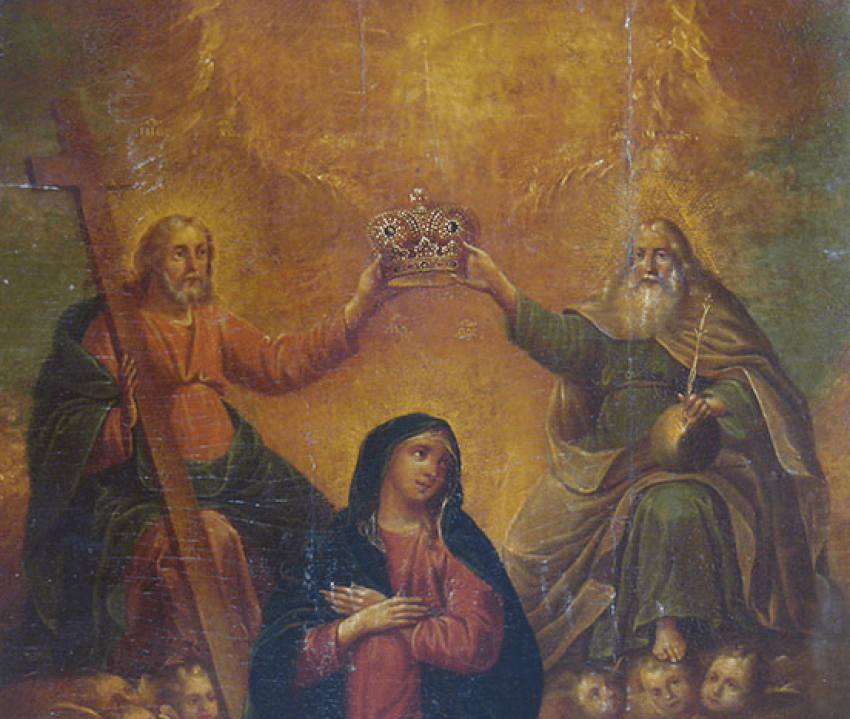 """Icon """"Coronation Of The Mother Of God"""" - photo 2"""