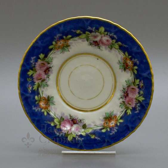 "A couple of tea with a porcelain spoon ""Floral bouquet"" porcelain Kornilov Brothers, Russia, C. 19th century - photo 5"