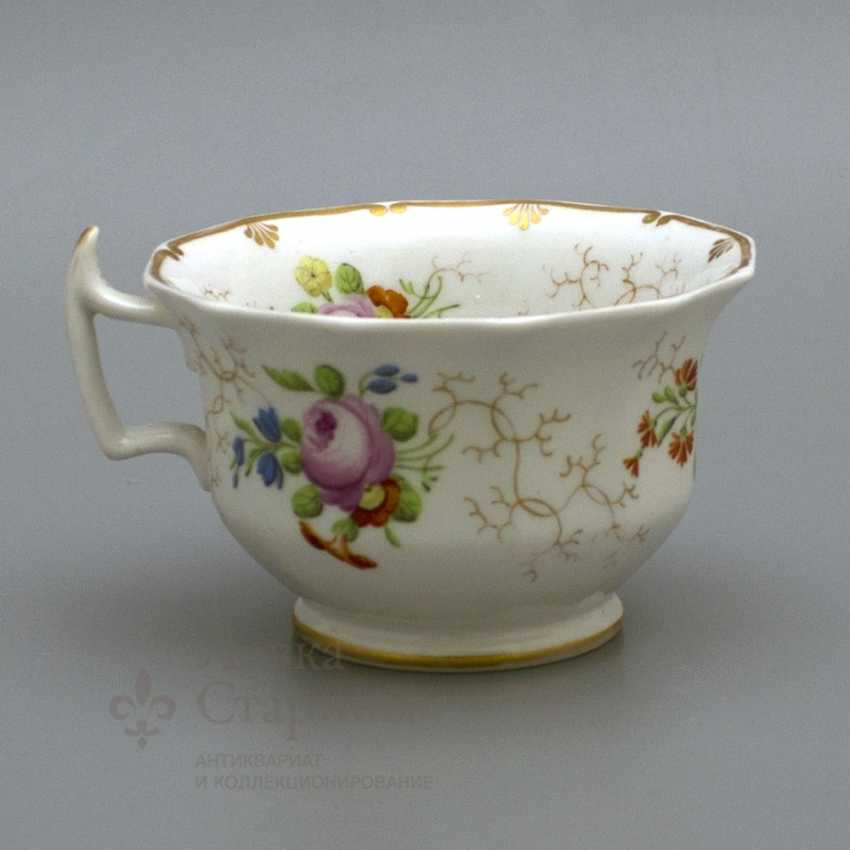 A couple of tea, Russia, Imperial porcelain factory, Nicholas I - photo 2