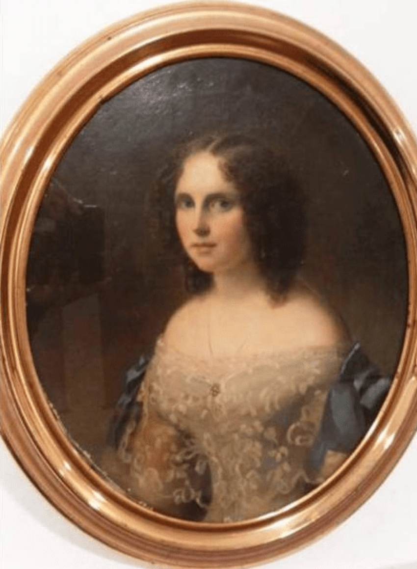 Portrait of a girl of the XIX-th century - photo 1
