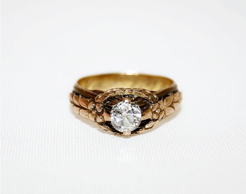 Diamond ring-gold 56 sample - photo 1