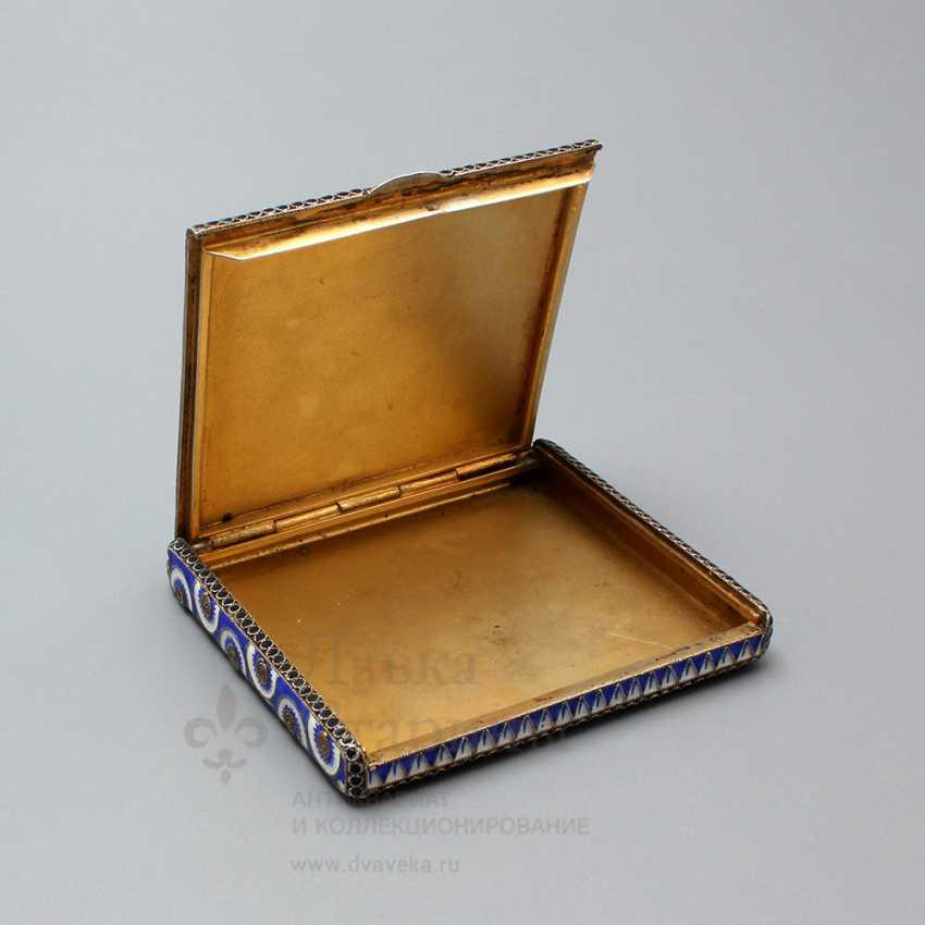 Soviet jewelry box with enamel, silver 916 samples, enamel, fine arts, 1930 - photo 4