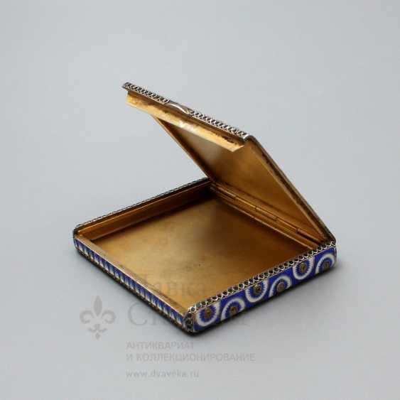 Soviet jewelry box with enamel, silver 916 samples, enamel, fine arts, 1930 - photo 5