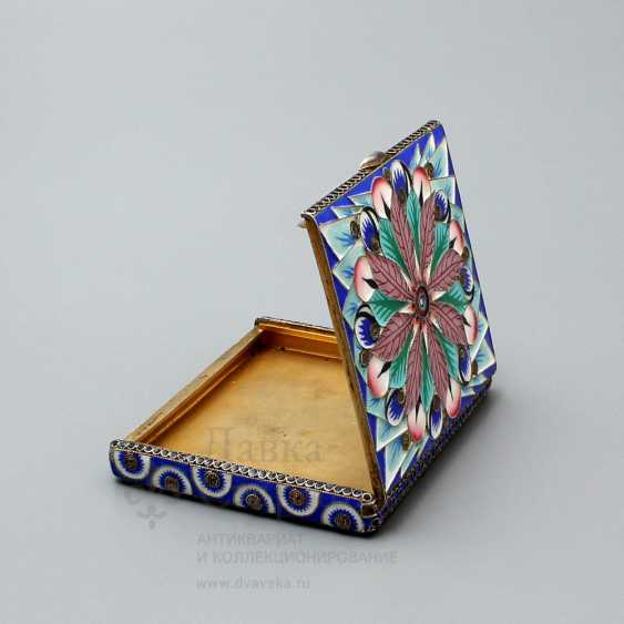 Soviet jewelry box with enamel, silver 916 samples, enamel, fine arts, 1930 - photo 6