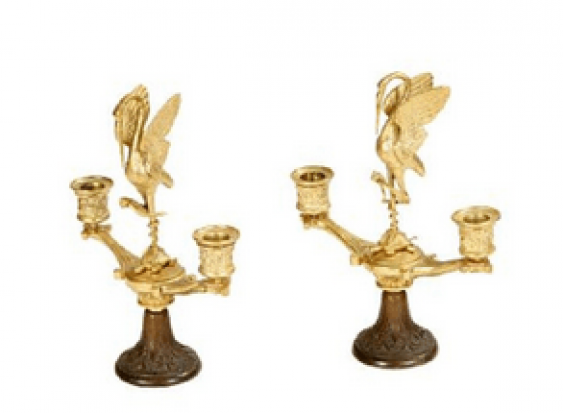 Pair of candelabra with Hitomi - photo 1