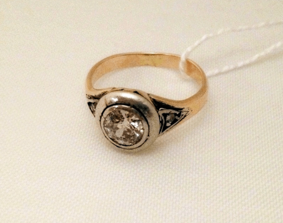 Ring with diamonds - photo 1