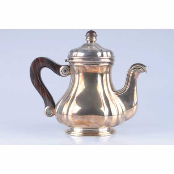 Tea set/coffee. Belgium, Brussels, Kon.19 - 1 floor. 20th century., jeweler. f-mA Freres Delheid. Silver 800, 950, wood, metal - photo 1