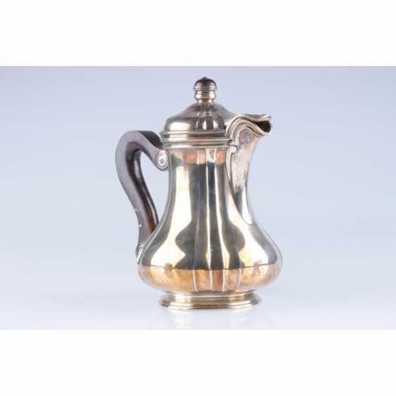 Tea set/coffee. Belgium, Brussels, Kon.19 - 1 floor. 20th century., jeweler. f-mA Freres Delheid. Silver 800, 950, wood, metal - photo 3