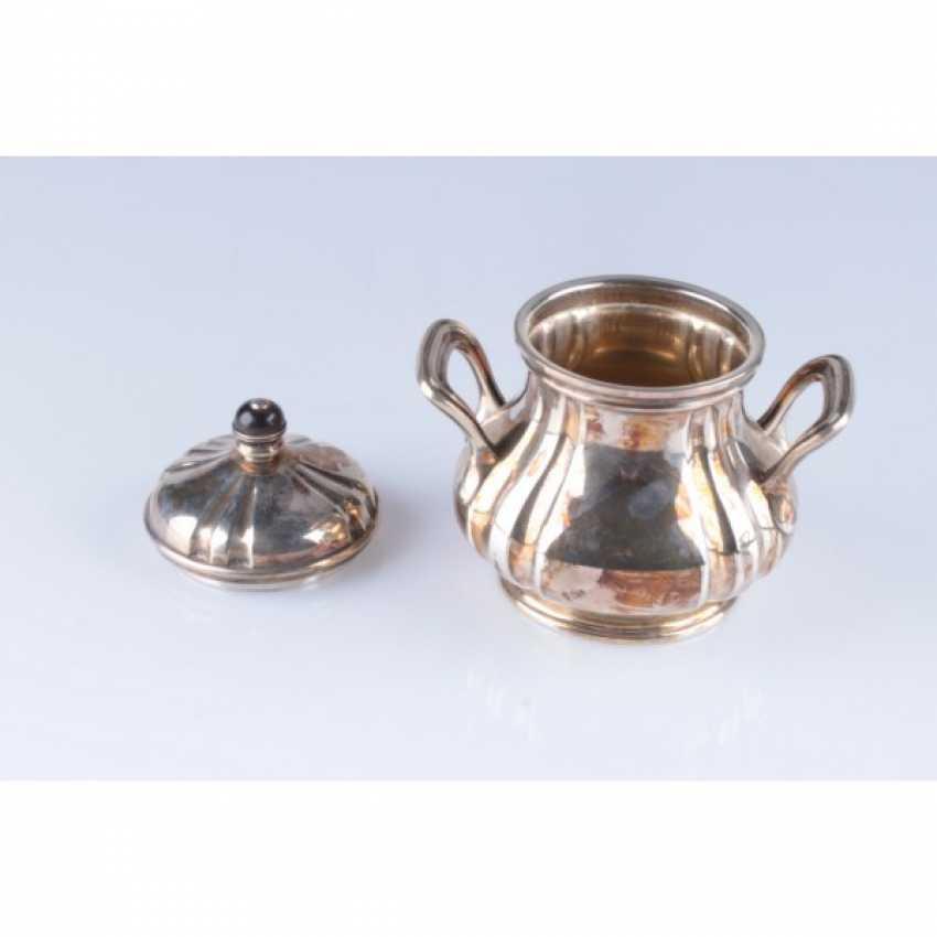Tea set/coffee. Belgium, Brussels, Kon.19 - 1 floor. 20th century., jeweler. f-mA Freres Delheid. Silver 800, 950, wood, metal - photo 4