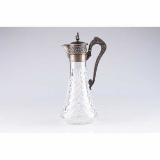 The decanter in the art Nouveau style. Moscow. Silver 84 samples. - photo 1
