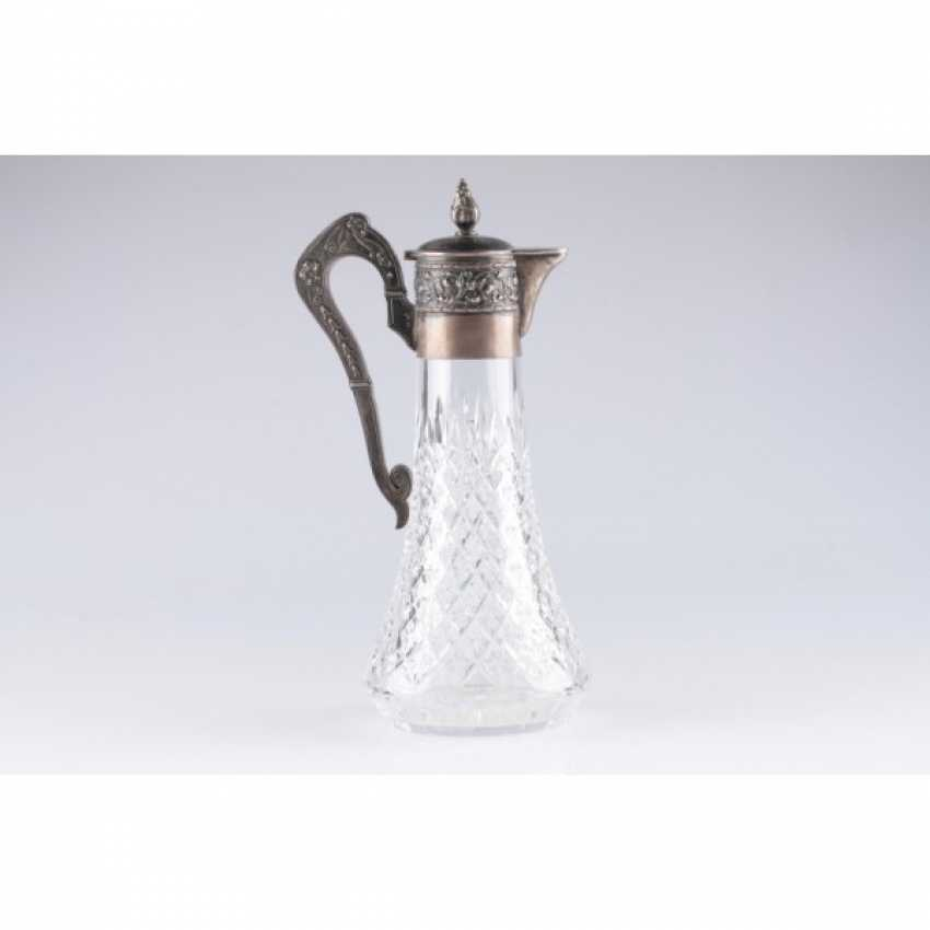The decanter in the art Nouveau style. Moscow. Silver 84 samples. - photo 2