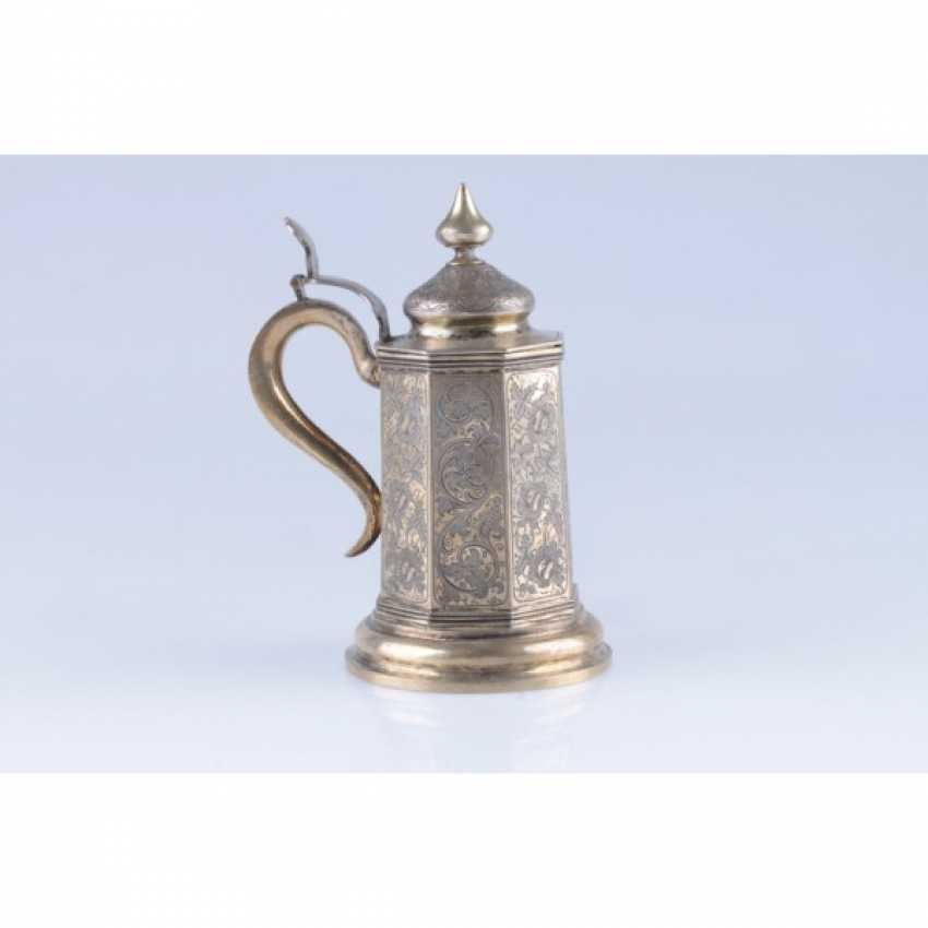 MUG WITH A LID. RUSSIA, MOSCOW, the MASTER of S. STROGANOV. - photo 1