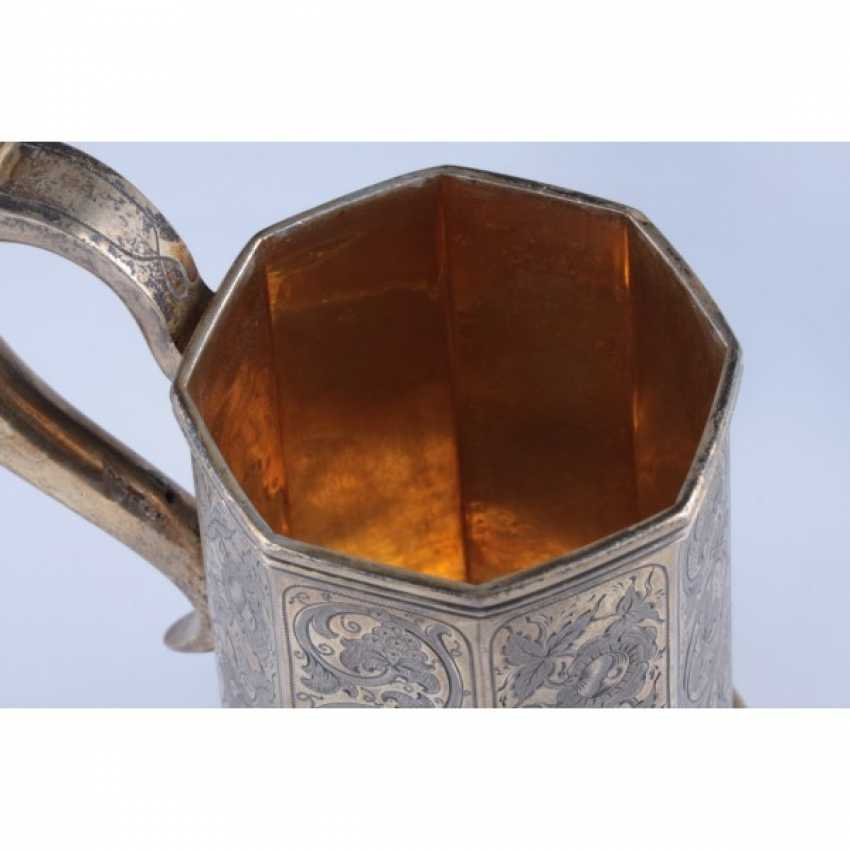 MUG WITH A LID. RUSSIA, MOSCOW, the MASTER of S. STROGANOV. - photo 5