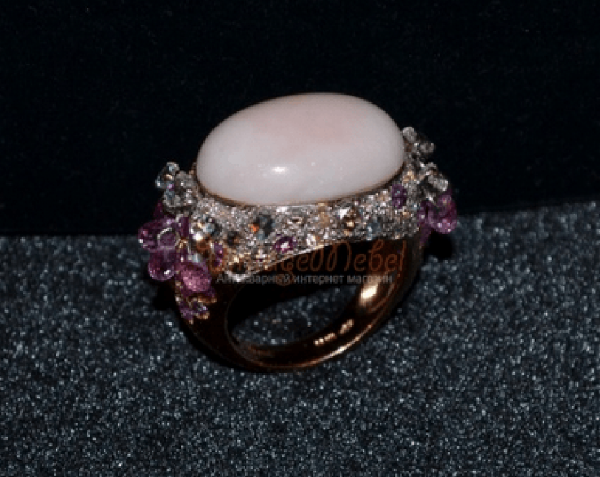 Vintage Ring with coral - photo 1