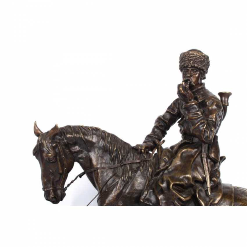 THE SCULPTURE'S RETURN FROM THE HUNT. RUSSIA, SAINT-PETERSBURG. ED. MOD. V. Y. GRACHEV. EXC. FACTORY K. F. VERFEL. A LATE 19th Century BRONZE. - photo 3