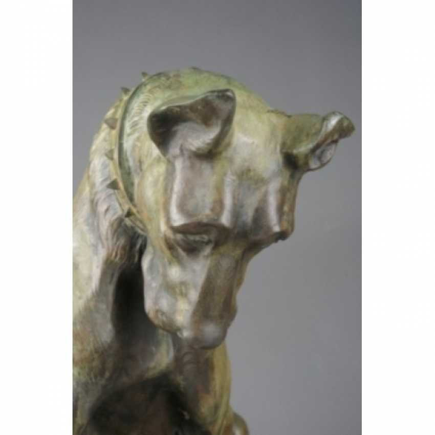 """THE SCULPTURE """"DOG WITH A CHICKEN."""" ITALY, AUTHOR ANTONIO AMORGASTI. - photo 4"""