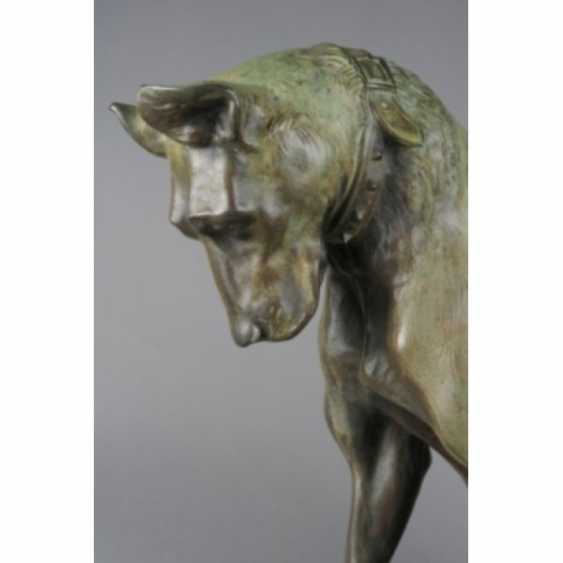 """THE SCULPTURE """"DOG WITH A CHICKEN."""" ITALY, AUTHOR ANTONIO AMORGASTI. - photo 6"""