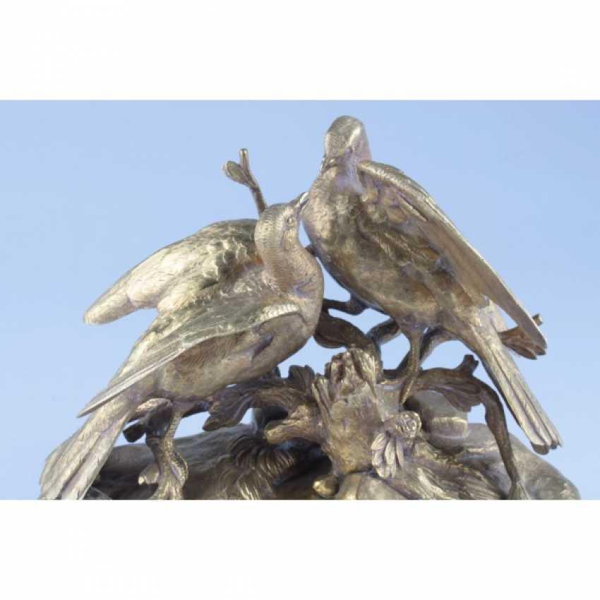 "THE SCULPTURE ""BIRDS"". FRANCE, PARIS, CON. 19 - NACH. The 20th Century, ED. MOD. - J. MOIGNIEZ. BRONZE. - photo 3"