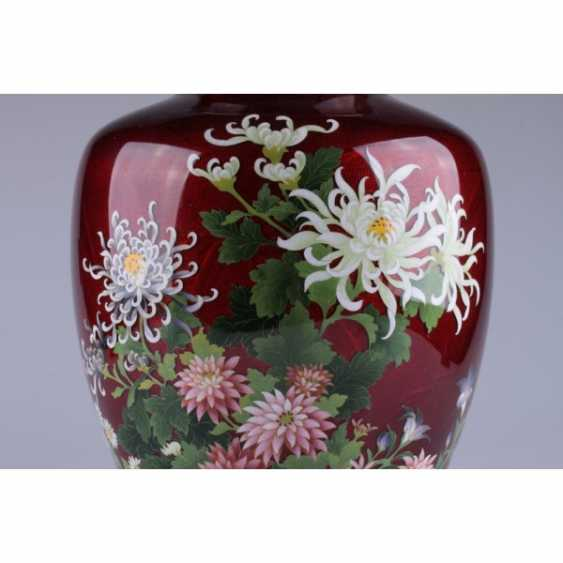 VASE WITH PICTURES OF FLOWERS. JAPAN. - photo 4