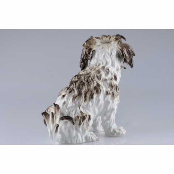 "A STATUETTE ""A DOG"". GERMANY, MEISSEN PORCELAIN FACTORY. - photo 4"