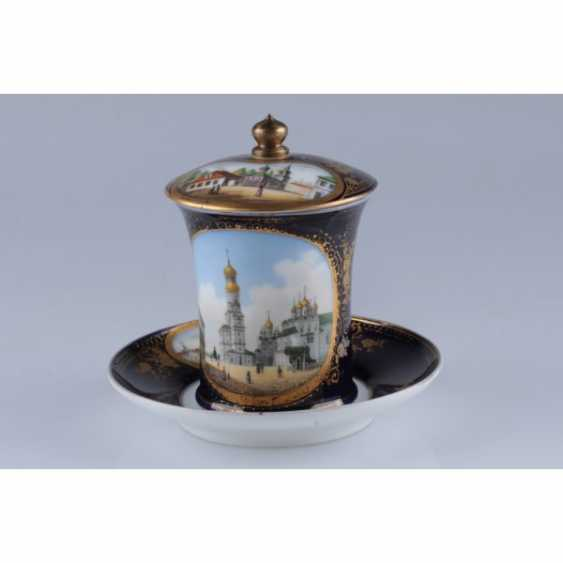 GLASS WITH A VIEW OF THE BELL TOWER OF IVAN THE GREAT. RUSSIA. - photo 1