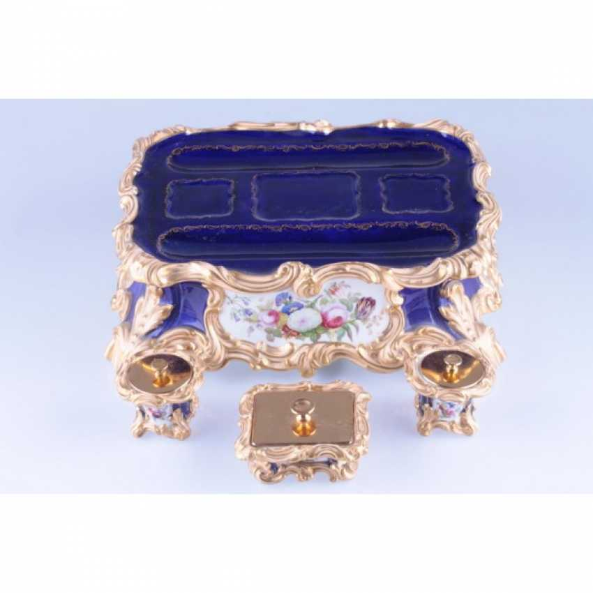 INKWELL NEO-ROCOCO. FRANCE, PRIVATE PORCELAIN MANUFACTORY. - photo 2