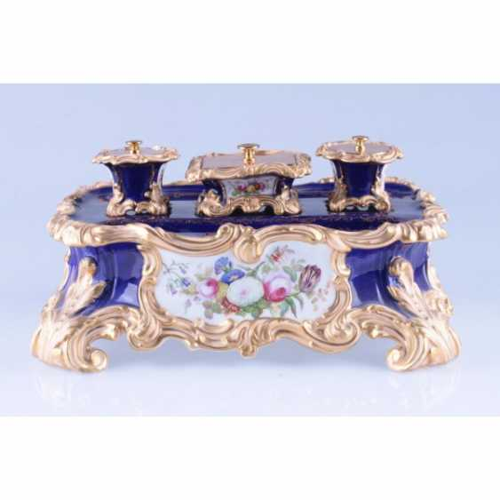 INKWELL NEO-ROCOCO. FRANCE, PRIVATE PORCELAIN MANUFACTORY. - photo 1