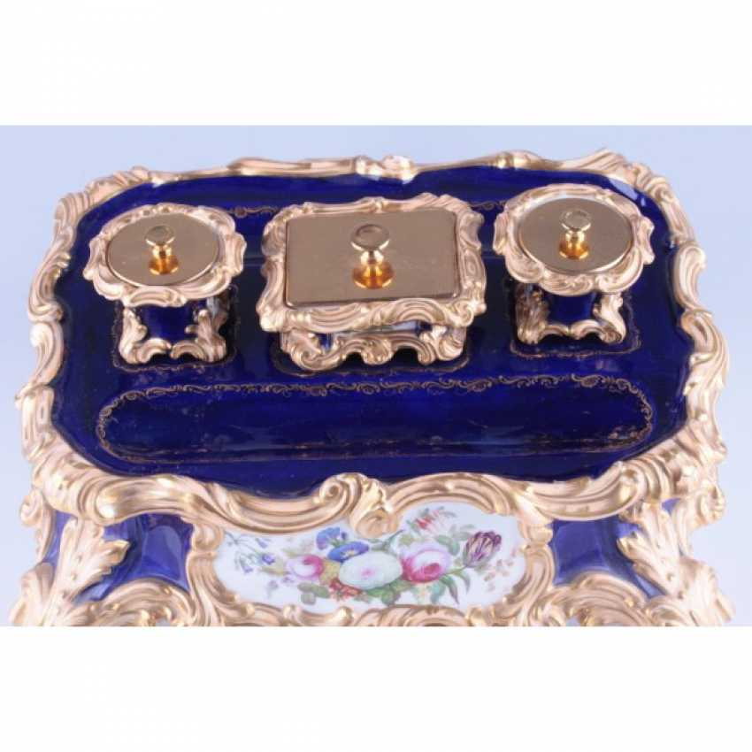 INKWELL NEO-ROCOCO. FRANCE, PRIVATE PORCELAIN MANUFACTORY. - photo 3