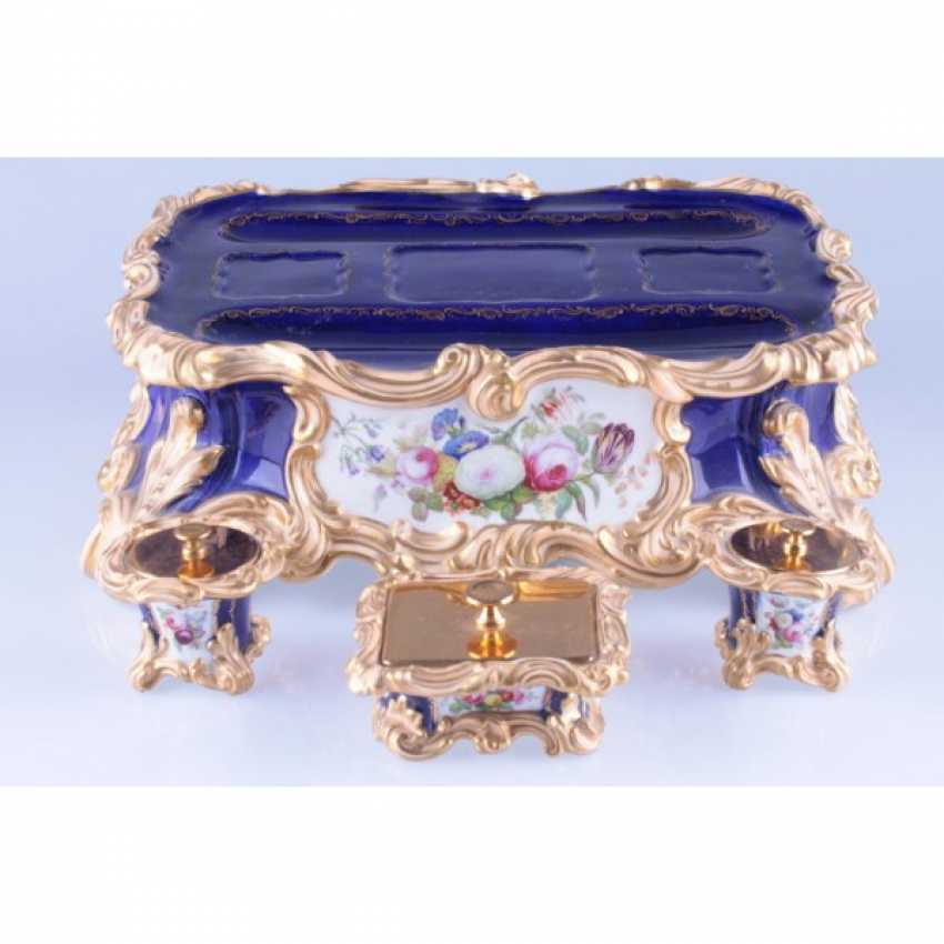 INKWELL NEO-ROCOCO. FRANCE, PRIVATE PORCELAIN MANUFACTORY. - photo 4