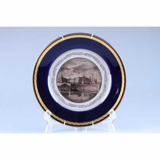 "DECORATIVE PLATE ""VIEW OF THE KREMLIN"". USSR, ZFA. - photo 1"