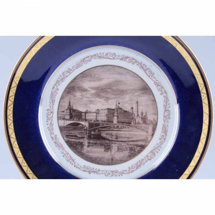 "DECORATIVE PLATE ""VIEW OF THE KREMLIN"". USSR, ZFA. - photo 2"