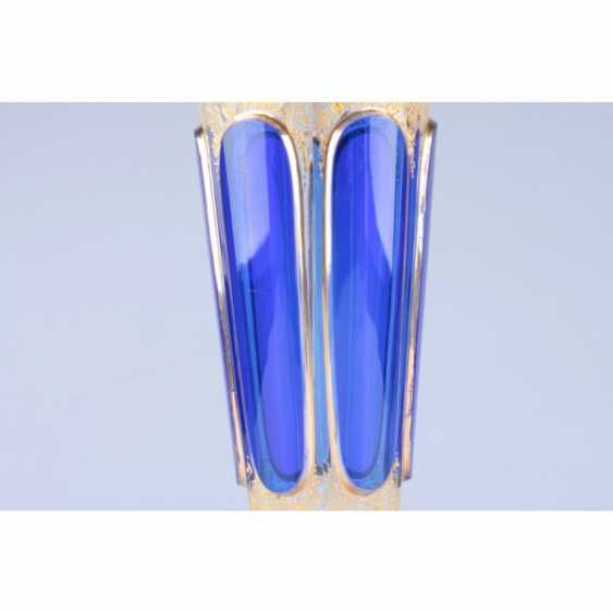 PAIR OF VASES WITH COBALT INSERTS. WESTERN EUROPE, 1 FLOOR. 20th Century GLASS. - photo 2