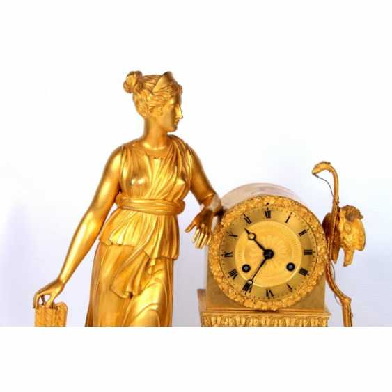 MANTEL CLOCK IN THE EMPIRE STYLE DIANA THE HUNTRESS - photo 2