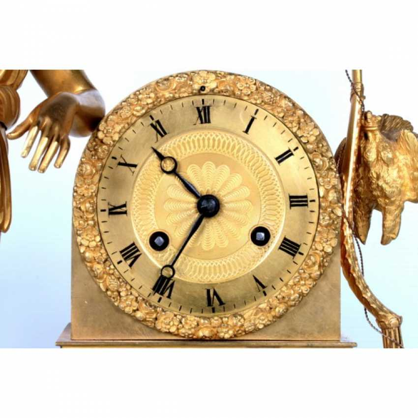MANTEL CLOCK IN THE EMPIRE STYLE DIANA THE HUNTRESS - photo 4