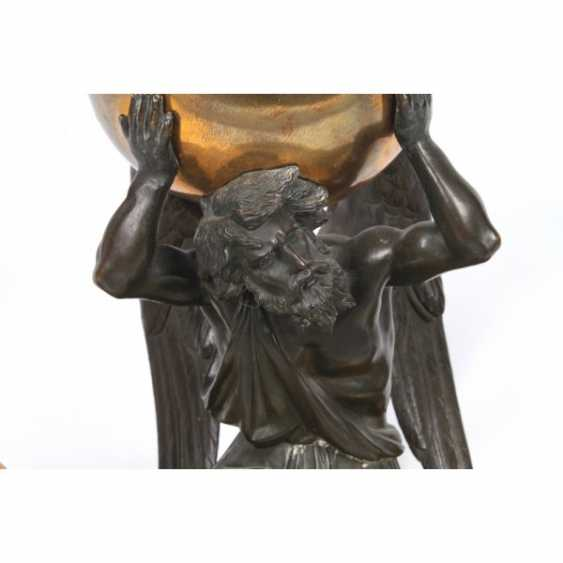 INKWELL IN EMPIRE STYLE KRONOS - GOD OF TIME. FRANCE, PARIS, 1ST HALF. 19 Century BRONZE. - photo 4